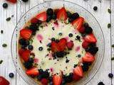Tarte panna cotta pistache et fruits rouges