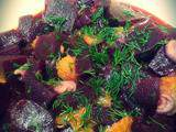 Salade de betteraves, oranges et aneth - ChezCachou