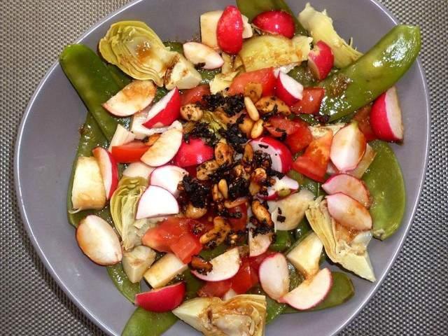 Recettes v g tariennes de pois gourmands - Salade a couper qui repousse ...