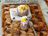 Overnight chia pudding au cacao, dès 12 mois
