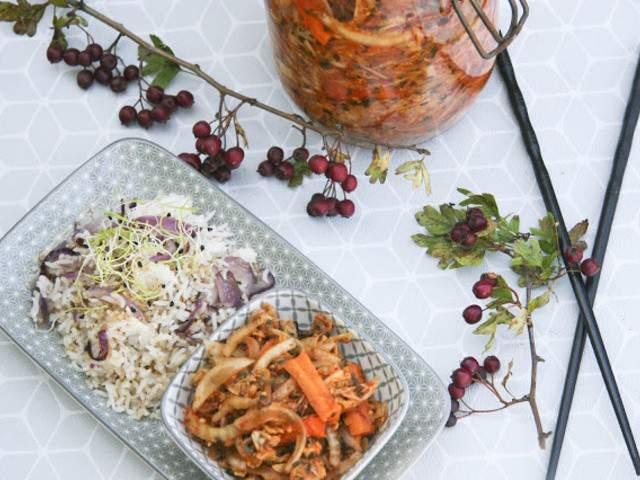 recettes v g tariennes de kimchi de dans la cuisine de gin. Black Bedroom Furniture Sets. Home Design Ideas