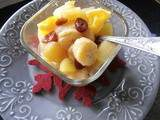 Compote pomme banane orange et cranberries