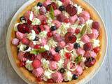 Tarte fruits rouges-chocolat blanc sur palet breton (inspiration  Fantastik  de Christophe Michalak