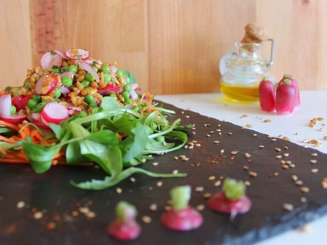 Recettes v g tariennes de salades 41 - Cuisiner le petit epeautre ...