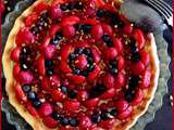 Tarte fruits rouges et pistache