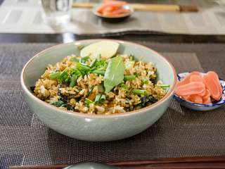 Khao pad / ข้าวผัด – Thai fried rice, mon riz sauté thai