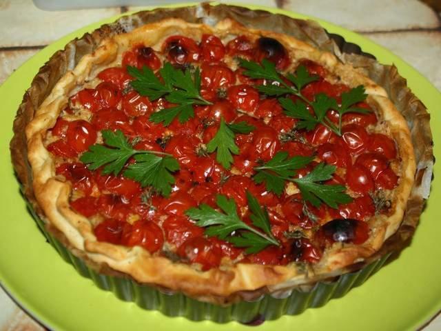 Recettes v g tariennes de tarte aux tomates cerises de - Blog mimi cuisine ...
