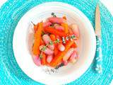 Carottes et radis caramélisés au miel, sarriette et thym (Carrots and radishes caramelized in honey, savory and thyme)