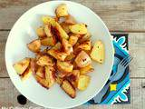 Potatoes au four au sirop d'érable (Potatoes baked in the oven with mapple syrup)