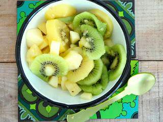 Salade de kiwis et pommes au gingembre (Kiwi and apple salad with ginger)