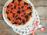 Tarte abricots et myrtilles (Apricot and blueberry tart)