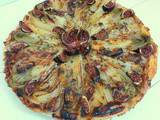 Tarte aux endives, poires et figues (Chicory, pears and figs tart)