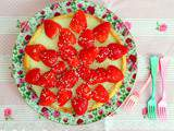 Tarte ganache au chocolat blanc et aux fraises (White chocolate and strawberries tart)