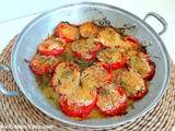 Tomates gratinées au four romarin et thym (Gratinated tomatoes with rosemary and thyme)
