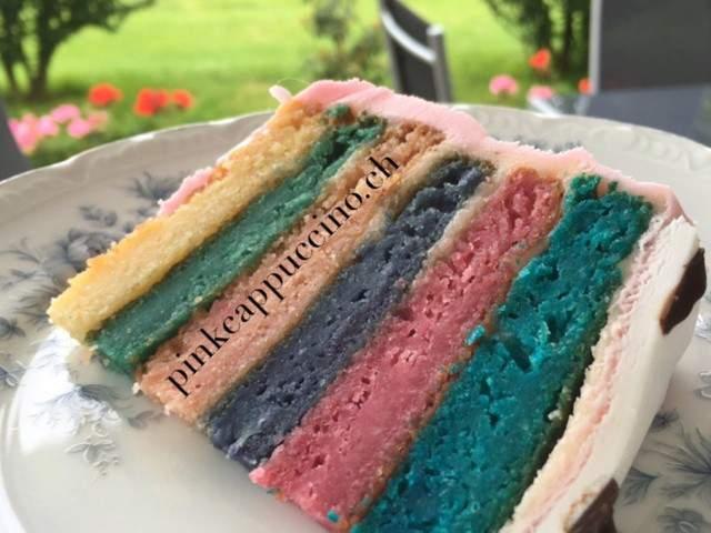 Recettes végétariennes de Rainbow cake