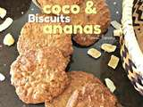 Biscuits croustillants coco et ananas